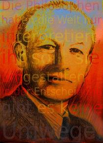 Portrait Adolf Reichwein - Ihr müsst die Welt umgestalten by Matthias Kronz