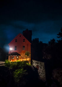 The Old Red Mill at Night by James Aiken