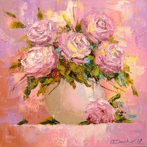 A bouquet of delicate roses von Olha Darchuk