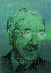 Portrait John Dewey - Demokratie basiert auf Bildung von Matthias Kronz
