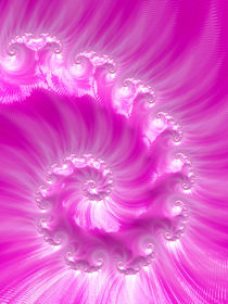 Fascinating Soft Pink Spiral von Elisabeth  Lucas