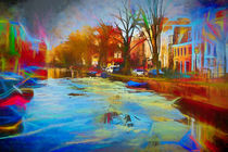 Gracht im Winter by phobeke