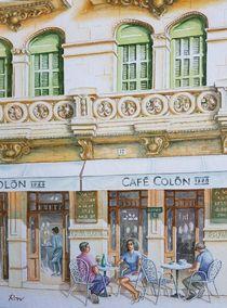 Café Colon in Llucmajor, Mallorca von Ronald Kötteritzsch