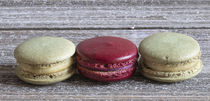 Pistachio and Raspberry Macarons by Elisabeth  Lucas