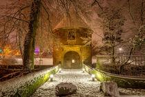 Das Torhaus im Winter von Frank Heldt