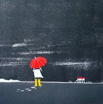 Roter Schirm von Dieter Tautz