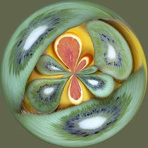 Kiwi and Orange Orb by Elisabeth  Lucas