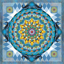 Mandala Blue Crown von Bedros Awak