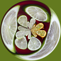 Lime and Kiwano Orb 2 by Elisabeth  Lucas