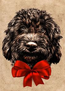 Dog Cute Vintage Puppy von bluedarkart-lem