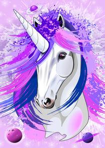 Unicorn Spirit Pink and Purple von bluedarkart-lem