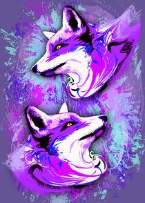 Purple Fox Spirit von bluedarkart-lem