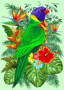 Rainbow Lorikeet Parrot Art von bluedarkart-lem