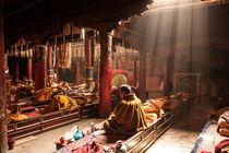 Meditating monk by Kamala  Saraswathi