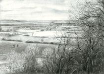 View on Zyfflich from Devil's mountain - 04-04-15 (sold) by Corne Akkers