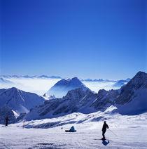ZUGSPITZPLATT.  Alpen im Winter, Blick auf Zugspitzplatt und Alpspitze von li-lu