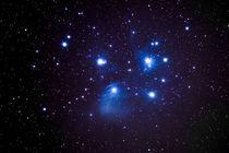 Plejaden, Pleiades,M 45 (echte Farben, echte Sterne) von Sandra Janzen