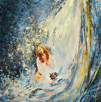 The Girl Under The Waterfall von Miki de Goodaboom