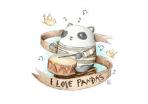 I love Pandas by Mike Koubou