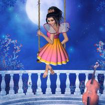 Elfe Fairy schaukelt ins Traumland von Conny Dambach