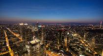 Blue Hour über Frankfurt by Kilian Schloemp