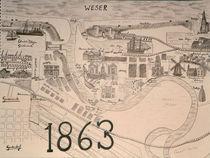 Historische Karte von Bremerhaven von streuner