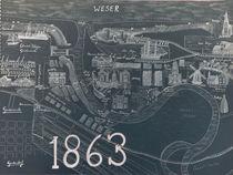 Historische Karte von Bremerhaven Negativ von streuner