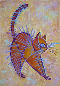 Aufgeregte Katze von Olga Krämer-Banas