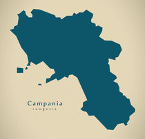 Modern Map - Campania IT Italy by Ingo Menhard