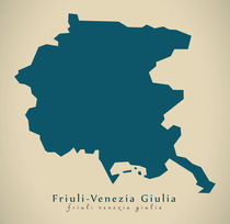 Modern Map - Friuli-Venezia Giulia IT Italy von Ingo Menhard