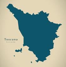 Modern Map - Toscana IT Italy von Ingo Menhard