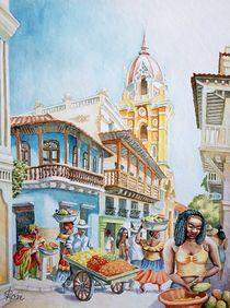 Straße in Cartagena by Ronald Kötteritzsch