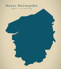 Modern Map - Haute Normandie FR France von Ingo Menhard