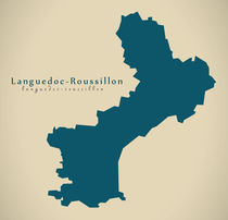 Modern Map - Languedoc Roussillon FR France by Ingo Menhard