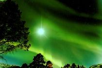 Northern lights & Full moon von Karsten Müller