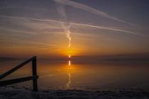 Sonnenaufgang im Naturschutzgebiet Mettnauspitze - Radolfzell von Christine Horn
