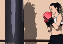 Fighting Woman VIII by mixedmarcelarts