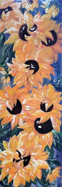 Sunflowers Tall and Skinny Vertorama von eloiseart