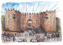 Damaskustor, Jerusalem von Hartmut Buse
