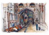 In der Grabeskirche, Jerusalem von Hartmut Buse