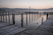 Steganlage des Jachthafens Bodman - Bodensee by Christine Horn