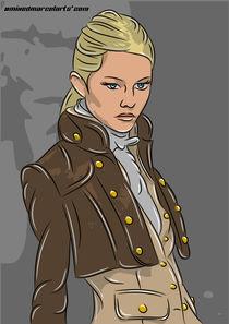 Military Steampunk Woman in uniform von mixedmarcelarts