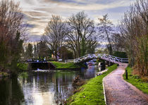 Footbridge By The Lock by Ian Lewis
