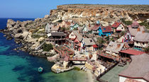 Famous Popeye village with colorful houses by ambasador