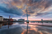 Swansea marina and Millennium bridge by Leighton Collins