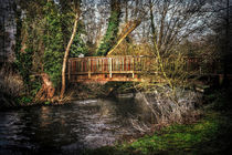 Footbridge Over The River Kennet by Ian Lewis