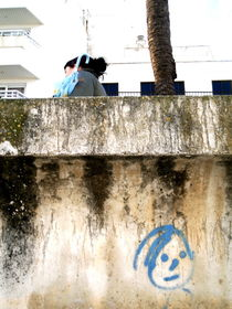 Woman with a blue Umbrella by Edgar Lück