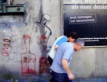Obey! - A mean super-ego is dissing two innocent men  Gehorche! - Ein übelmeinendes Über-Ich schikaniert zwei unschuldige Männer by Edgar Lück