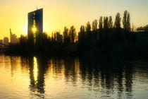 Sonnenuntergang im Frankfurter Ostend von Kilian Schloemp