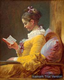 Jean-Honoré Fragonard Young Girl Reading by artokoloro